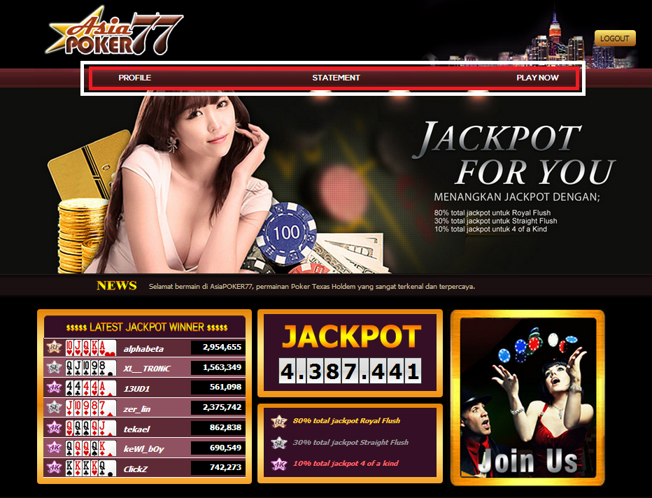 Halaman Depan Situs Judi Poker Online