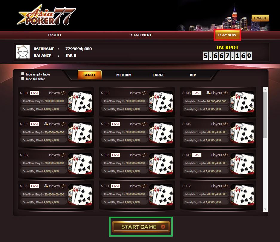 Pilih Arena Permainan Judi Poker