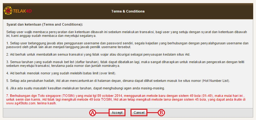 Terms & Conditions situs Telak4d