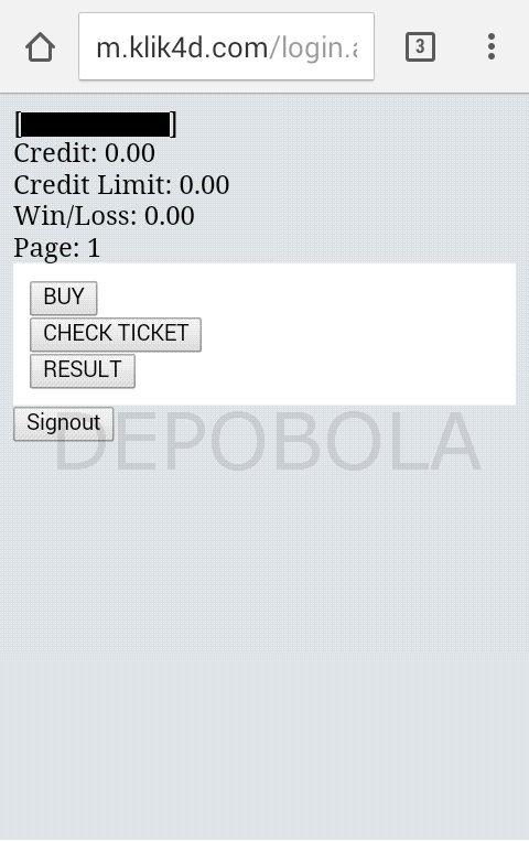 cara login klik4d mobile 2